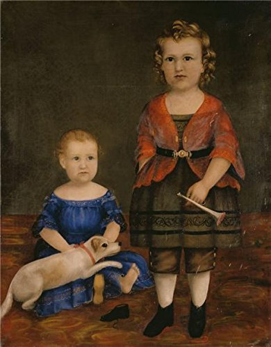 High Quality Polyster Canvas ,the High Quality Art Decorative Prints On Canvas Of Oil Painting 'W. Evans,Portrait Of Mrs. Leon M. Leslie And Dr. Benjamin S. Leonard As Children,ca.1859', 16x21 Inch / 41x52 Cm Is Best For Bar Decor And Home Artwork And Gifts
