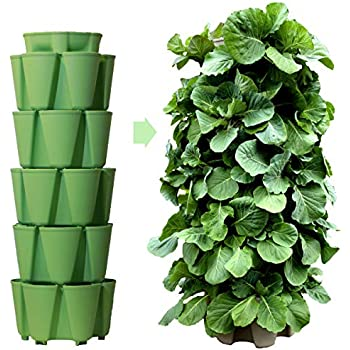 Vertical Garden Planters >> Huge Greenstalk 5 Tier Vertical Garden Planter With Patented Internal Watering System Great For Growing A Variety Of Strawberries Vegetables Herbs