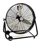 Chonlakrit 24 Commercial Industrial Drum Fan Barrel Rolling Adjustable Warehouse Floor NEW