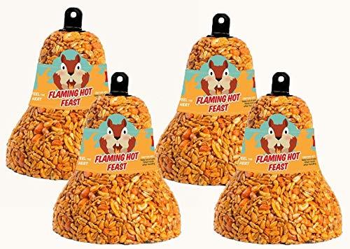 Mr. Bird 4-Pack Flaming Hot Feast Wild Bird Seed Bell 8 oz. by Mr. Bird