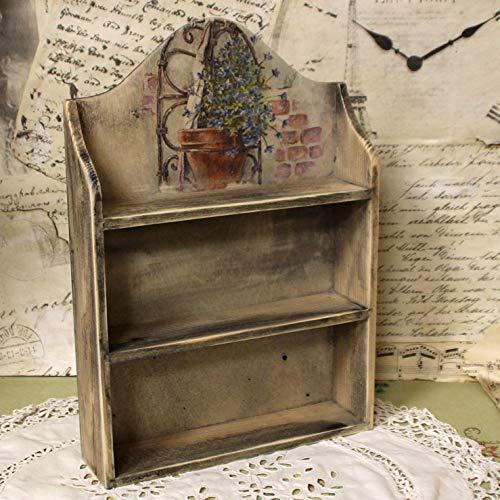 Vintage Wandregal 26x6x37cm Handarbeit Miniregal Holz Gew/ü ...