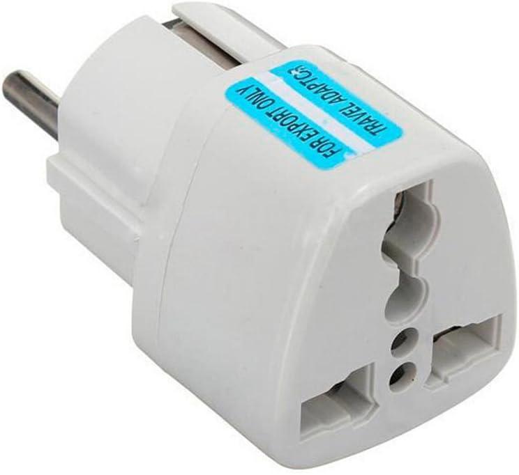 Worldwide Universal International (UK, USA, Asia, Australia, Middle East) to European 2 pin (round) wall socket - Visitor / Visiter / Travel Adaptor / Adapter / Plug / converter / Convertor