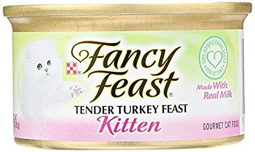 - Fancy Feast Tender Turkey Feast Kitten Made With Real Milk 12-Cans