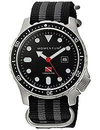 Momentum Men's 1M-DV44B7S Analog Display Japanese Quartz Black Watch