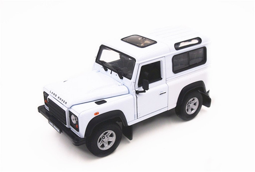 Welly Land Rover Defender 1/24 Scale Diecast Model Car White NIXEU 22498W-WH