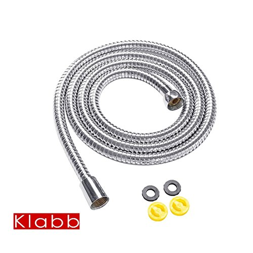 HotelSpa 5 to 7 Foot Extra Long Stretchable Stainless Steel Shower Hose Stretches to Your Needs! well-wreapped