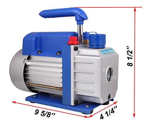 [해외]TMS 3 CFM 단일 스테이지 로터리 베인 진공 펌프 R410a R134 Hvac A c 공기 냉매/TMS 3 CFM Single-stage Rotary Vane Vacuum Pump R410a R134 Hvac A c Air Refrigerant