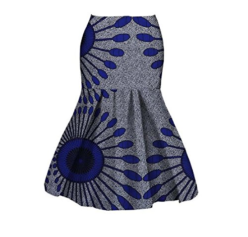 Beeatree Women Africa Short Cotton Batik Dashiki Mermaid Club Bodycon Skirt 10 L by Beeatree-women clothes