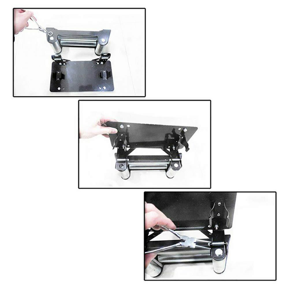 Kampre License Plate Bracket Flip-Up Roller Fairlead Mounting Holder Universal License Number Plate Frame Mounting Bracket Holder