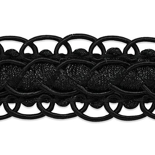 Black Scalloped Trim (Expo International Linda Scalloped Braid Trim, 20 yd, Black)