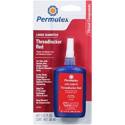 Permatex 27740-6PK Red Large Diameter Threadlocker - 36 ml, (Pack of 6) by Permatex