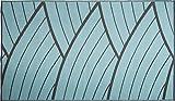 WJ Dennis & Company DUNHAQ912 Dune Reversible Outdoor Decorative Mat, Flat Weave Texture, 9' x 12', Hydrae Aqua