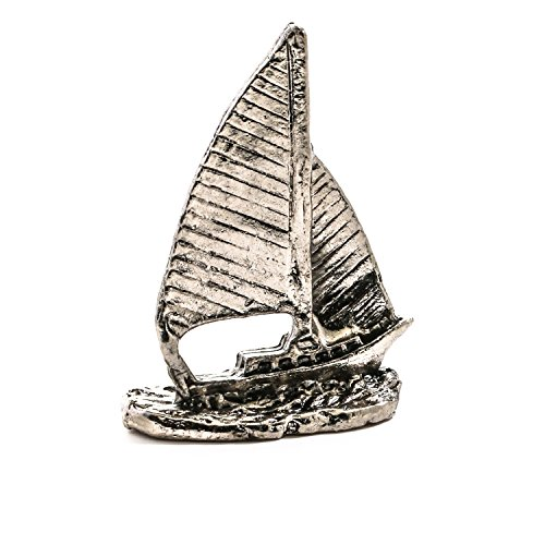 Factory Direct Craft Group of 4 Ultra Miniature Silver Pewter Sailboats for Embellishing, Crafting and (Pewter Sailboat)