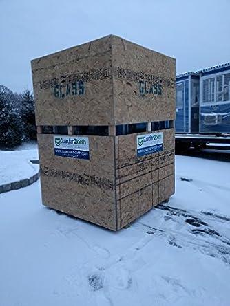 Prefabricados 4 x 4 caseta de guardia de seguridad/cabina de billete/aparcamiento quiosco - Modelo de economía con puerta batiente (: Amazon.es: Amazon.es