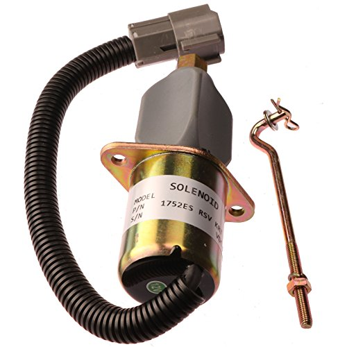 (Holdwell Fuel Shutdown Solenoid 1752ES for Bosch RSV Cummins Mitsubishi Generator 12Vdc)