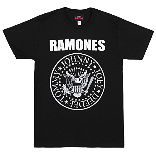 - Impact Men's Ramones Presidential Seal T-Shirt, Black, X-Large