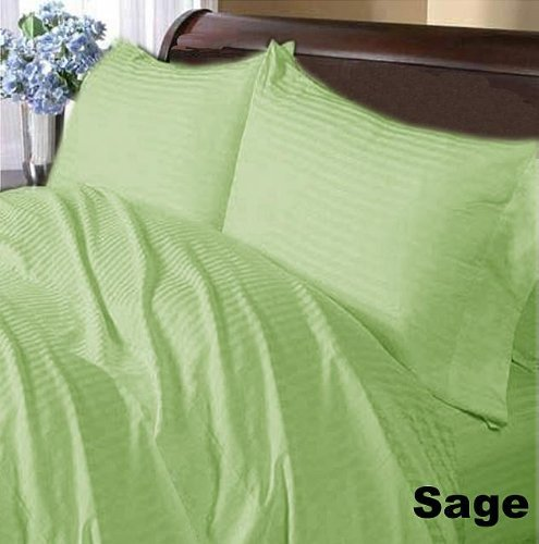 Sheet Count Set 500 - { 4PCs } Comfort New Stripes Colors { Sage - 22