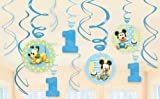 Mickey's 1st Birthday Swirl Decorations 12ct, Health Care Stuffs