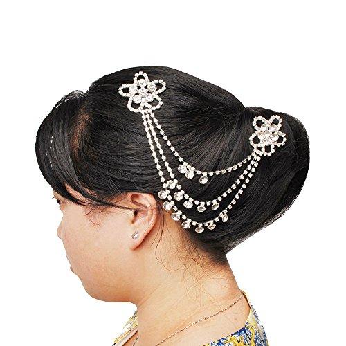 Jane Stone Peigne a Cheveux Fleur Strass Brillant Femme Mariage Accessoires