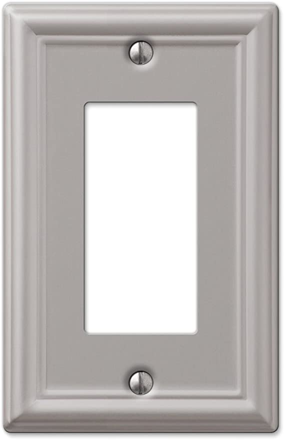 Amertac 149rbn 1 Rocker Wall Plate 1 Duplex Outlet Brushed Nickel Switch Plates Amazon Com