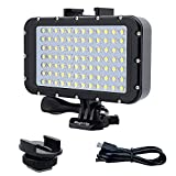 Suptig Underwater Lights Dive Light 84 LED High Power Dimmable Waterproof LED Video