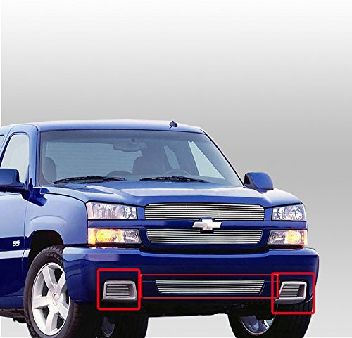 ZMAUTOPARTS Chevy Silverado 15 SS Front Bumper Billet Grille Grill 3Pcs Combo Pickup