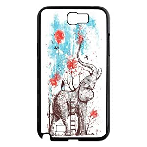 High quality elephant series protective case cover For Samsung Galaxy Note 2 CaseA-elephant-B3577