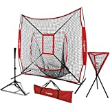 fa1d3d8ac ZENsports 7' x 7' Baseball Softball Practice Hitting Pitching Net with  Strike Zone Target