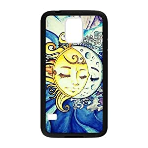 Canting_Good Funny trippy sun and moon Custom Case Shell Skin for Samsung Galaxy S5 (Laser Technology)