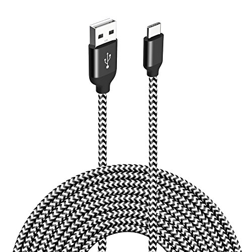 Type C USB Charger Cable, VICOX 10FT Nylon Braided USB C to USB Fast Charging Data Cable for Galaxy Note 8 S9 S9+ S8 Plus, LG G5 G6 V20, Pixel XL, Oneplus 3T 5 6, Nintendo Switch
