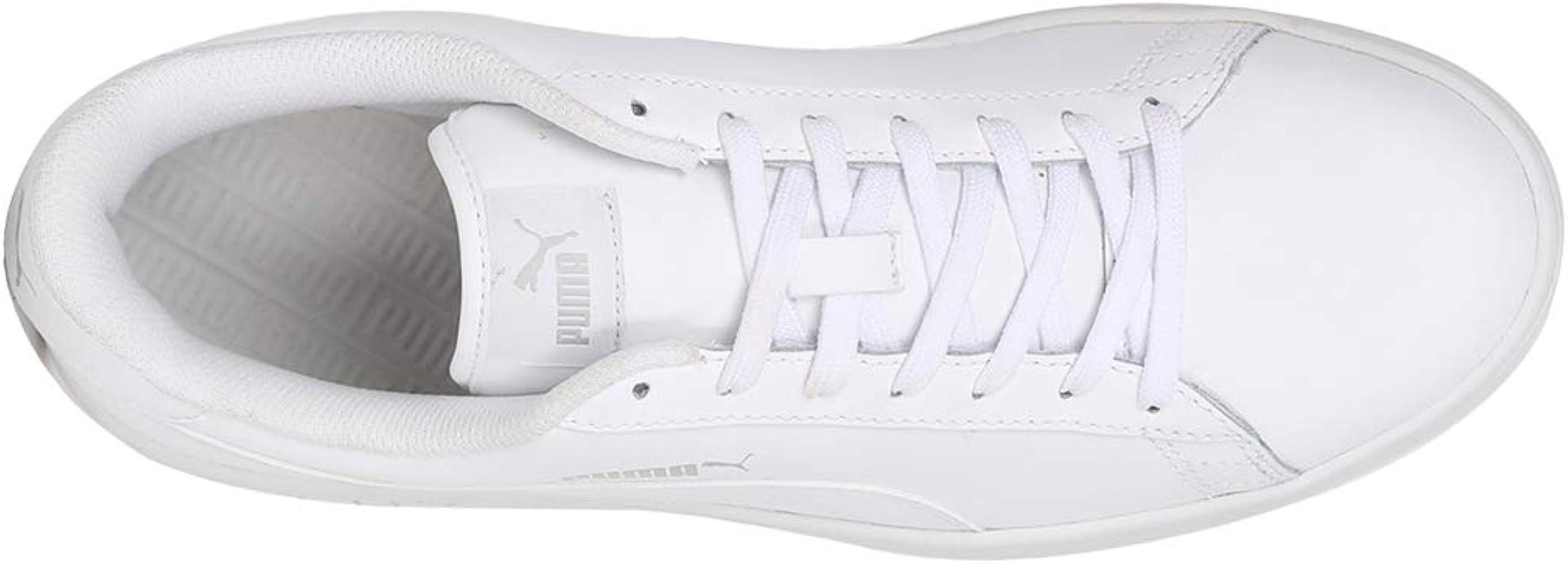 6718d2fef47d Puma Smash v2 Leather, Baskets de Cross mixte adulte, Blanc (Puma White)
