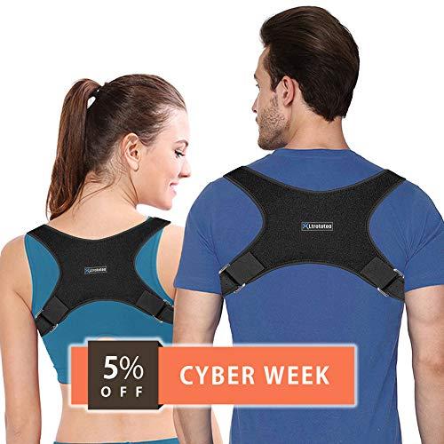 Ltrototea Back Posture Corrector for Women & Men - Back Brace Posture Corrector - Corrects Slouching, Hunching & Bad Posture - Lower Upper Shoulder Neck Pain - Clavicle Support Brace
