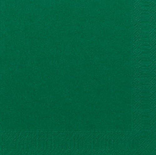 Duni Dinner-Servietten 3lagig Tissue Uni dunkelgr/ün 40 x 40 cm 250 St/ück