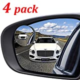 "Kribin 4 Pack Blind Spot Mirror, 2"" Round HD Glass Frameless Convex Rear View Blind Spot Mirror Stick On with 360° Rotation Adjustable for SUV Car Auto"