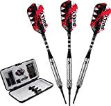 Viper Bully 80% Tungsten Soft Tip Darts with Storage/Travel Case, Fine Knurling, 18 Grams