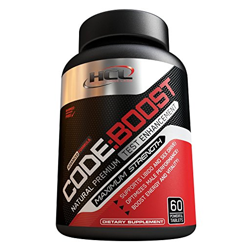 CODE:BOOST- Potent & 100% Natural Premium Testosterone Booster | For Muscle Growth | Male Libido Enhancement | Full 30-Day Cycle | Top Booster Supplement on Amazon | Powerful Energy Booster