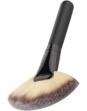 Isuper Belleza 1pc grande grande ventilador superior del cepillo del maquillaje Herramientas Ventilador cara de la