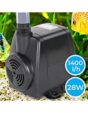 Jago – Bomba de agua sumergible para acuario con conector de salida y cable de alimentación – caudal máximo de 1400 l/h