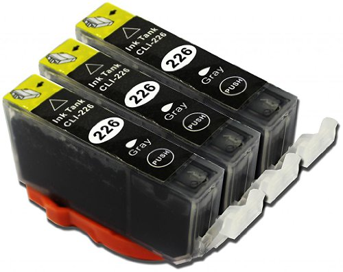 YoYoInk Compatible Ink Cartridges Replacement for Canon PGI225 + CLI226 Parent (3 Pack (3 Gray))