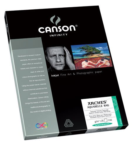 Canson Infinity- Arches Aquarelle 310gsm (Twenty-Five 8.5x11 Inch Sheets) by Canson