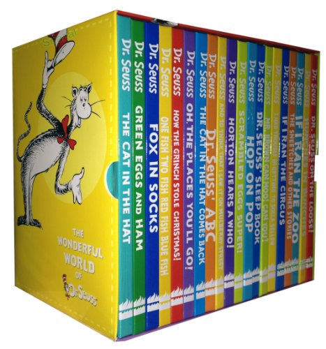 Dr Seuss Collection 20 Books Set Pack (The Cat in the Hat, Green Eggs and Ham, Fox in Socks, One Fish Two Fish Red Fish Blue Fish, How the Grinch Stole Christmas!, Oh the Places You'll Go!, the Cat in the Hat Comes Back, Dr. Seuss' Abc, Dr. Seuss ..)