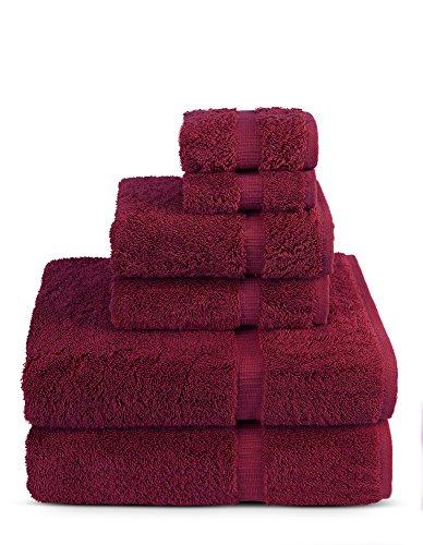 6 Piece Turkish Luxury Turkish Cotton Towel Set – Eco Friendly, 2 Bath Towels, 2 Hand Towels, 2 Wash Clothes by…