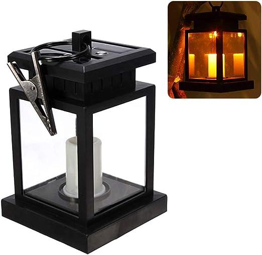 Luz de vela LED alimentada por energía solar Lámpara de mesa para ...