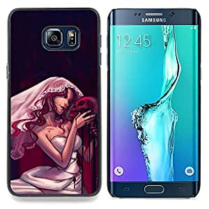 - Design Goth Skull Bride/ Hard Snap On Cell Phone Case Cover - Cao - For Samsung Galaxy S6 Edge Plus