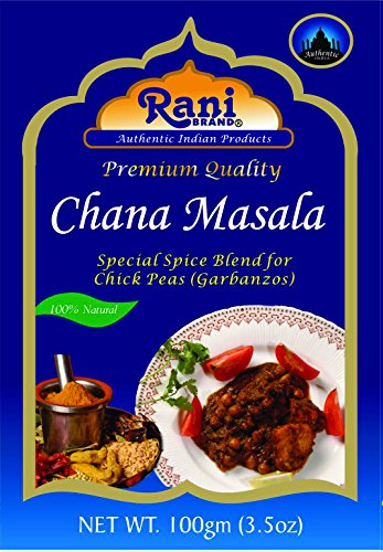 Rani Chana Masala (Garbanzo Curry Spice Blend) 3.5oz (100g)~ Vegan | Gluten Free Ingredients | NON-GMO (Best Chana Masala Powder)