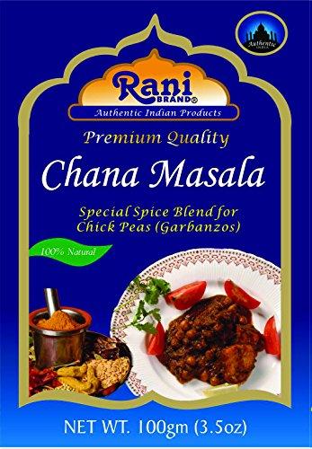 Box Down Blend Wrap - Rani Chana Masala (Garbanzo Curry Spice Blend) 3.5oz (100g)