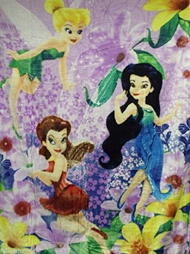 Tinkerbell Throw - Disney Tinkerbell Spring Pixies Royal Plush Raschel Throw Blanket 60 inch x 80 inch