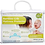 M&Y Waterproof Bamboo Crib Mattress Protector/Pad/Cover + Breastfeeding Guide | Ultra-Soft, Quilted, Hypoallergenic, Stain Protection | Fitted Crib Mattress Topper (52x28x9 inches) | Baby & Toddler