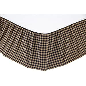 Navy Check Queen Bed Skirt by Ashton & Willow
