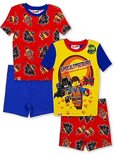 LEGO Movie 2 Boys Four-Piece Pajama Short Set